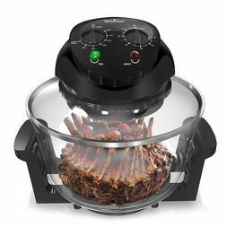 NutriChef 1000W Air Fryer, Roaster Oven, Bake, Grill, Steam