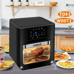14qt digital air fryer oven with rotisserie