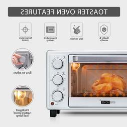 16L 6 Slice Convection Countertop Toaster Oven Broiler with