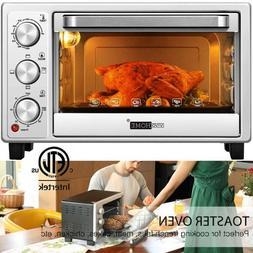 "VIVOHOME 16L 6 Slice Toaster Oven Convection Broiler 10"" Piz"