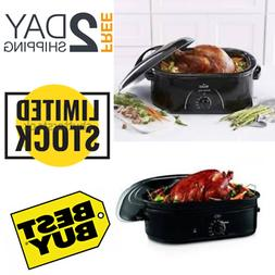18 qt Roaster Oven Convection Self-Basting Lid Kitchen Home