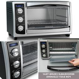 6 Slice Convection Oven Pizza Toaster Countertop Stainless S