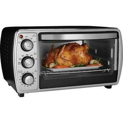 Oster 6-slice Convection Toaster Oven, Black