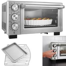 6 Slice Convection Toaster Oven Brushed Stainless Steel Time
