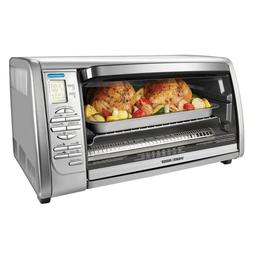 6-Slice Digital Convection Toaster Oven in Stainless Steel B