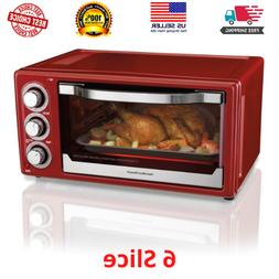 Hamilton Beach 6 Slice Toaster Convection/Broiler Oven   Red