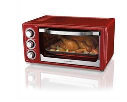 Hamilton Beach 6 Slice Toaster Convection/Broiler Oven | Red