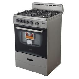 "Avanti GR2416CSS Gas Range Sealed Burners, 24"", Black, OSFA"