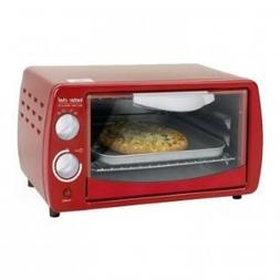 Better Chef - Classic 0.3-cu. Ft. Toaster Oven - Red/white