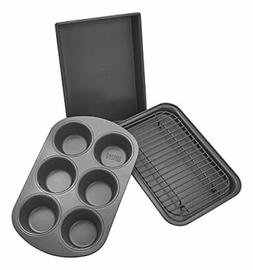 Chicago Metallic 8044 Non-Stick 4-Piece Toaster Oven Bakewar