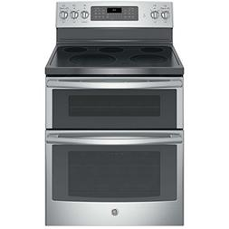 Ge - 6.6 Cu. Ft. Self-cleaning Freestanding Double Oven Elec