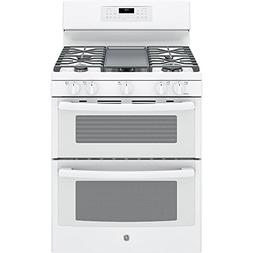 Ge - 6.8 Cu. Ft. Self-cleaning Freestanding Double Oven Gas