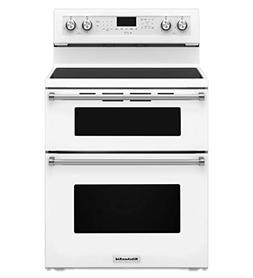Kitchenaid - 6.7 Cu. Ft. Self-cleaning Freestanding Double O