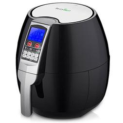 NutriChef AZPKAIRFR54 Digital Air Fryer, Black