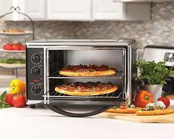 Black Convection Toaster Oven & Rotisserie Combo Extra Large