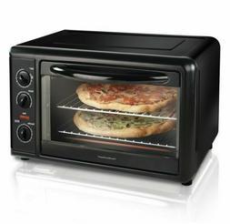 Hamilton Beach Black Countertop Oven with Convection & Rotis