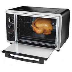 Hamilton Beach Black Countertop Oven with Convection and Rot