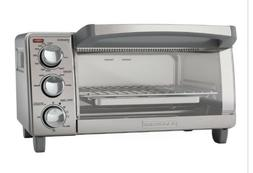 BLACK+DECKER 4-Slice Toaster Oven, Easy Controls, Stainless