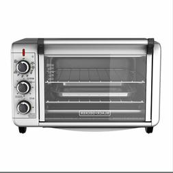 BLACK+DECKER Silver Convection 2-Shelf Toaster Oven 6-Slice