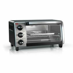 BLACK+DECKER TO1750SB 4-Slice Toaster Oven with Natural Conv