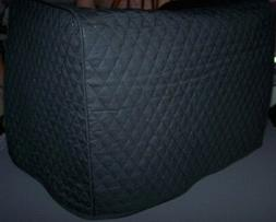 Black  Quilted Fabric Toaster or Convection Oven Cover NEW