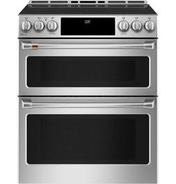 """GE Cafe 30"""" Induction & Convection Double Oven Stainless Ste"""