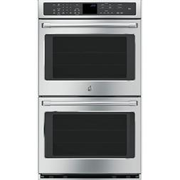 "GE Cafe CT9550SHSS 30"" Double Wall Oven with 5.0 Cu. Ft. Ove"