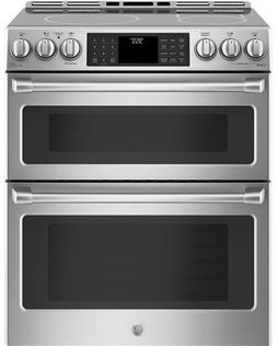 "GE Cafe Series 30"" Slide-In Front Control Induction and Conv"