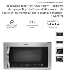 """Whirlpool Convection Microwave combo oven1.9 CF """"Over The Ra"""