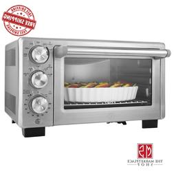 Convection Toaster Oven Countertop 6 Slice Brushed Stainless