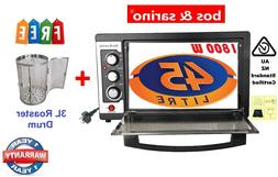 Convection Rotisserie BBQ Oven + FREE Air Fryer Roaster Drum