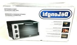 Convection Toaster DeLonghi Bake Oven Grill Rotisserie Black