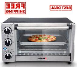 Convection Toaster Oven 4 Slice Stainless Steel Pizza Cook w