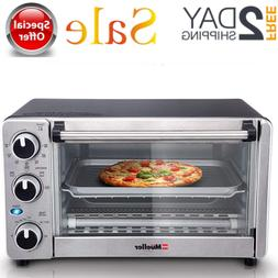 Convection Toaster Oven 4 Slice Stainless Steel Family Size