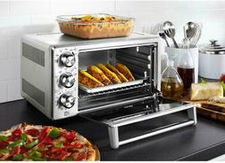 Convection Toaster Oven 6 Slice Brushed Stainless Steel Bake