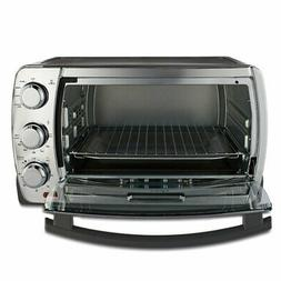 Convection Toaster Oven Brushed Stainless 6 Slice Steel Fami