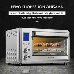 convection toaster oven stainless steel lcd display