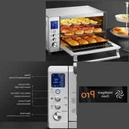 Convection Toaster Oven Stainless Steel LCD Display Pre-set