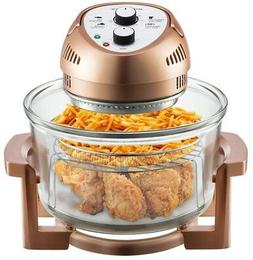Countertop Oven Copper 16 Qt. Oil-free Air Fryer Clear Glass