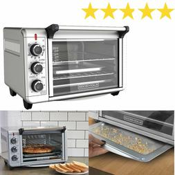 countertop convection oven pizza toaster stainless steel