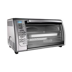 BLACK+DECKER Countertop Convection Toaster Oven, Silver, CTO