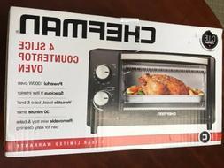 Chefman Countertop Toaster Oven, 4 Slice Toast Bake Broil Bl