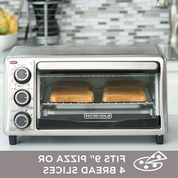 DECKER TO1303SB 4-Slice Toaster Oven - Stainless Steel Black
