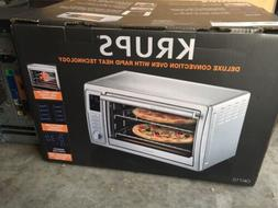 Krups deluxe convection oven with rapid heat technology