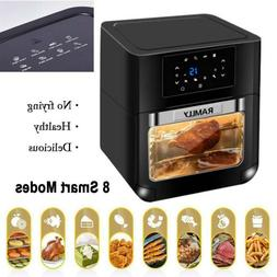 Digital Air Fryer Convection Oven 1700W 8 in 1 Rotisserie Ho