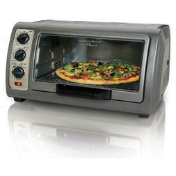 Easy Reach 1400 W 6-Slice Gray Convection Toaster Oven With