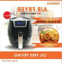 Electric Air Fryer 6 Qt 1350W Digital Timer Temp Control 8 P