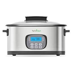 NutriChef Electric Slow Cooker 11 In 1 Cooking Functions Cro