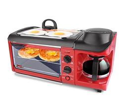 Elite EBK-1782R Maxi-Matic 3-in-1 Deluxe Breakfast Station,
