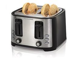 Hamilton Beach Extra-Wide 4-Slice Slot Toaster, Black